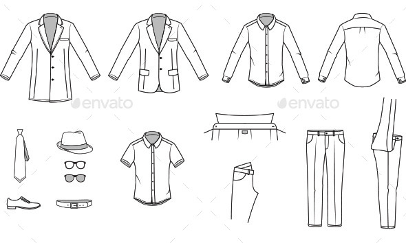 Men's Clothes and Garments - Man-made Objects Objects