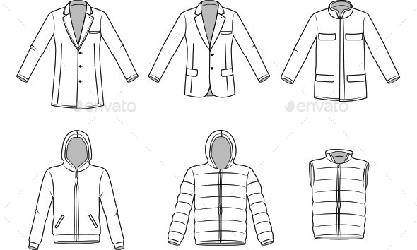 Men's Outerwear Clothes - Man-made Objects Objects