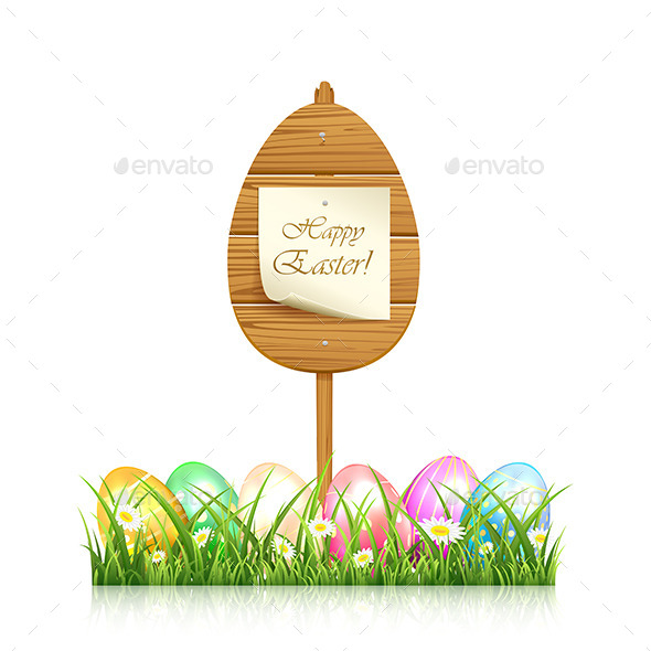 Wooden Easter Sign - Miscellaneous Seasons/Holidays