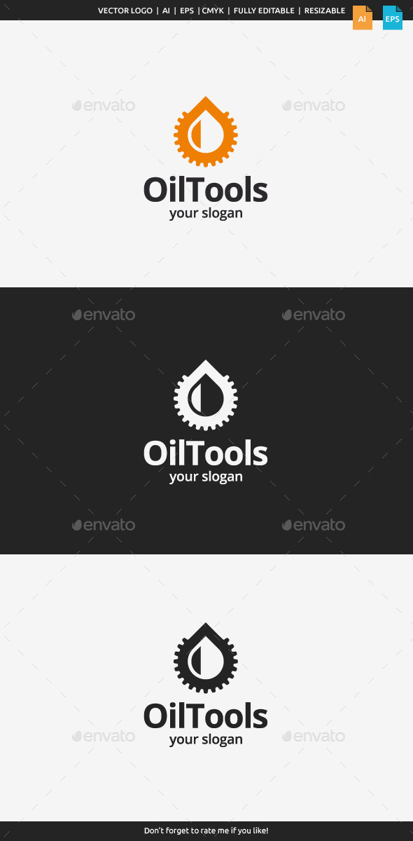 Oil Tools Logo Template - Symbols Logo Templates