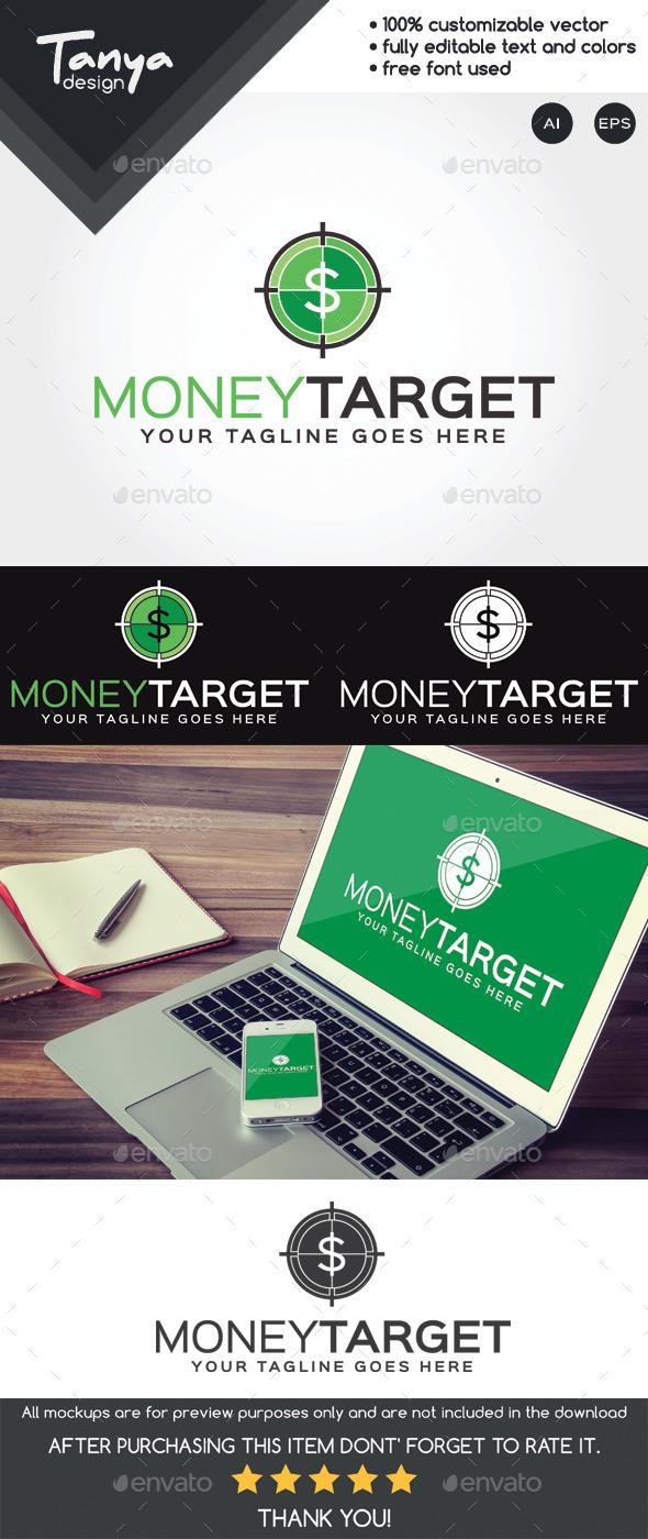 Money Target Logo Template - Symbols Logo Templates