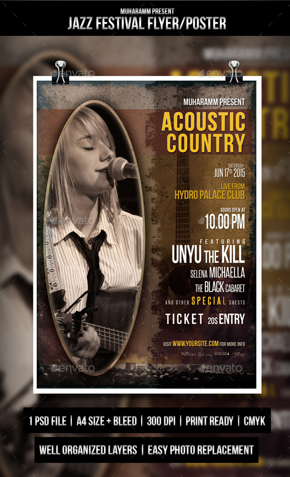 Acoustic Country Flayer - Concerts Events