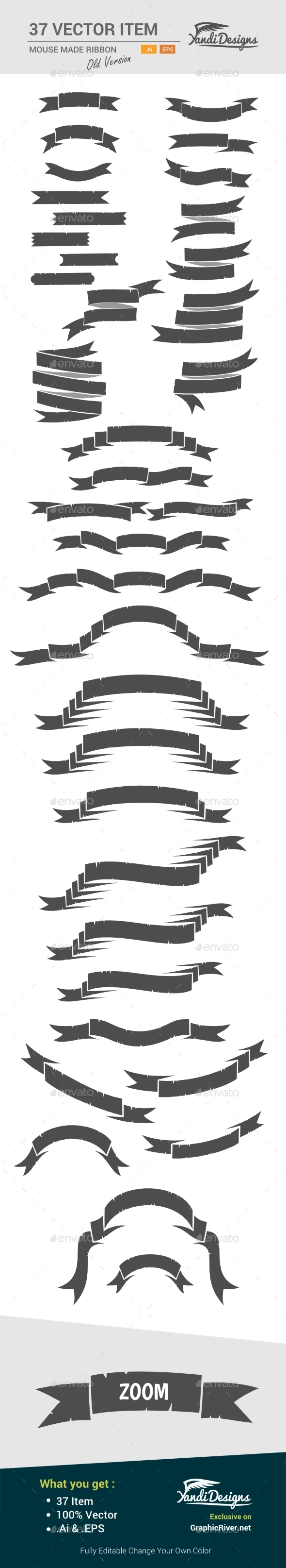 Old Ribbons - Decorative Vectors