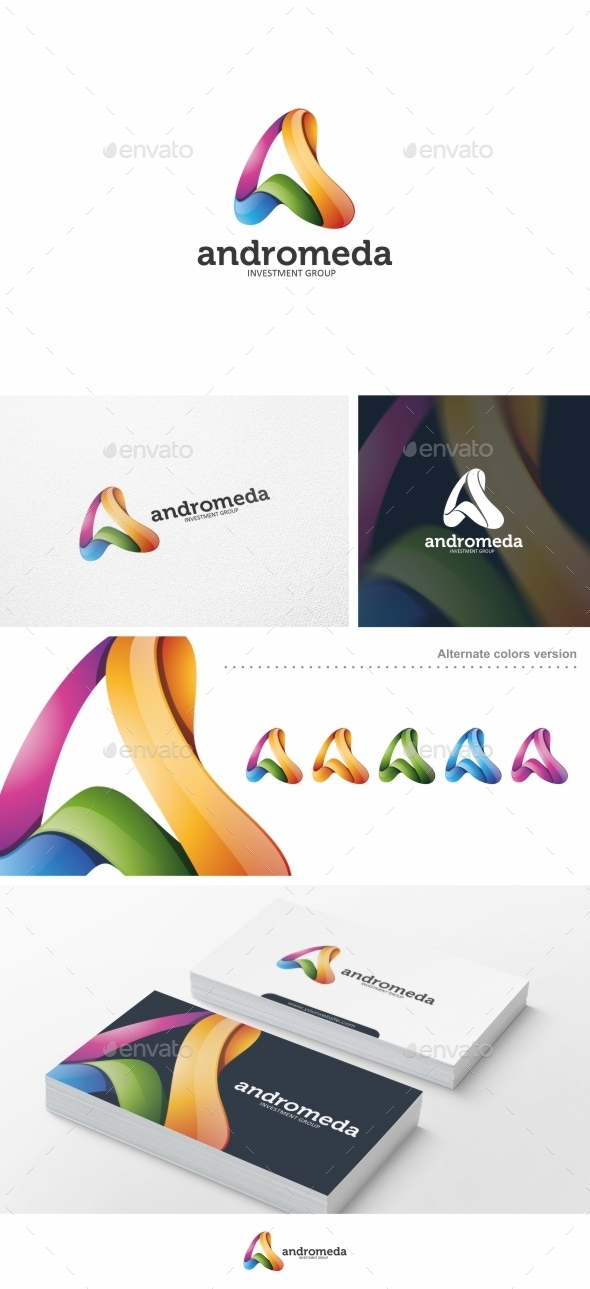 Abstract Letter A - Logo Template - Letters Logo Templates