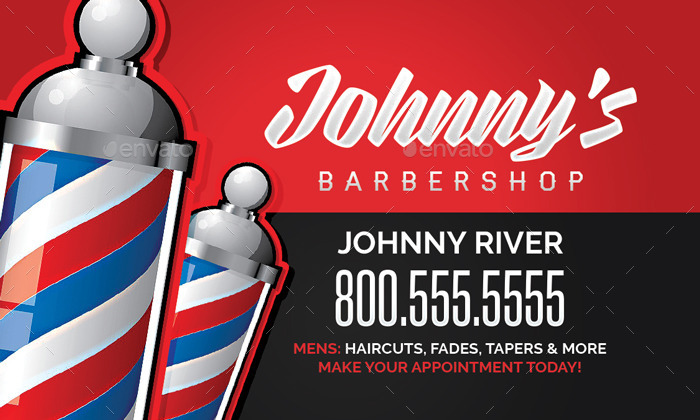 Barbershop Business Card Template by flyerpunkz | GraphicRiver