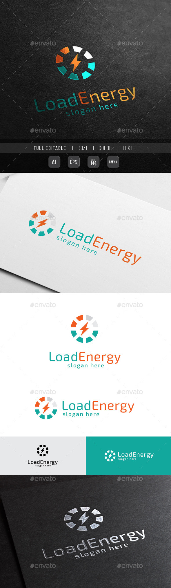 Re Energy - Power Load - Symbols Logo Templates