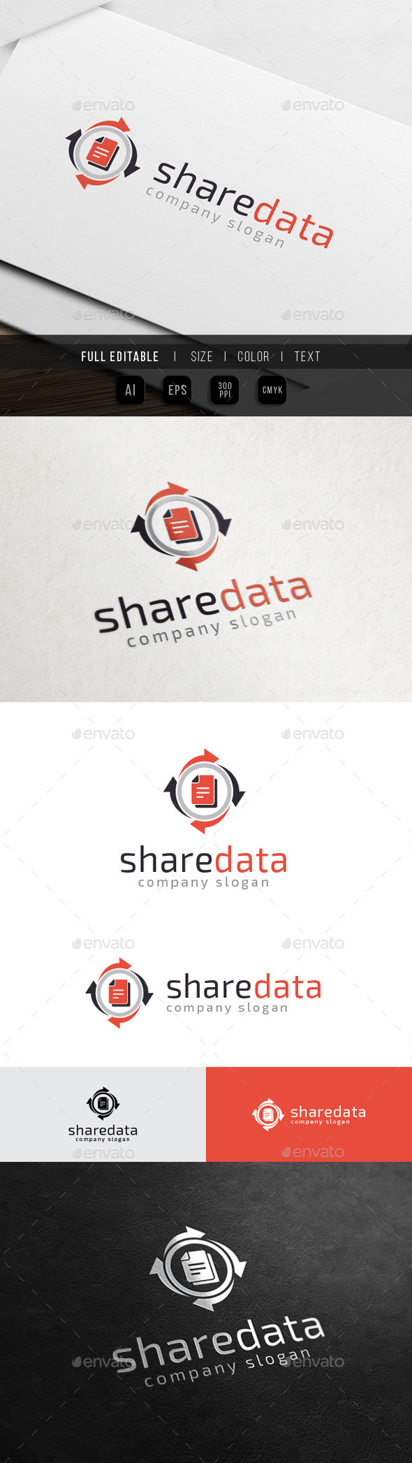 Data Share - Database Storage - Symbols Logo Templates