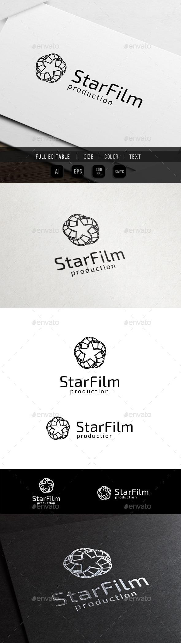 Star Media - Movie Film - Objects Logo Templates