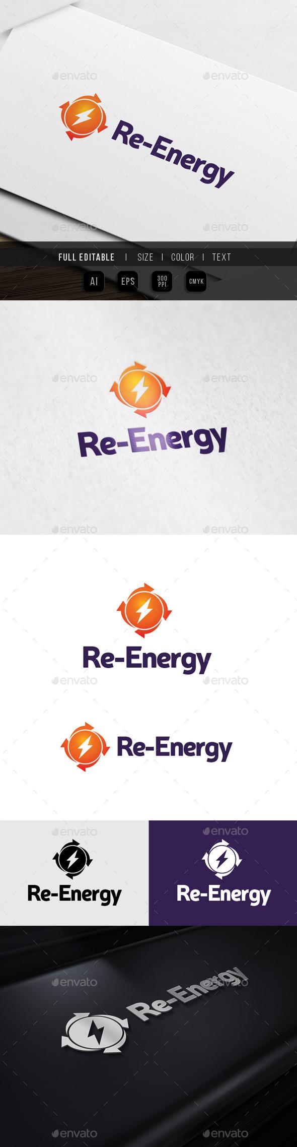 Sharing Energy - Recharge Power - Symbols Logo Templates