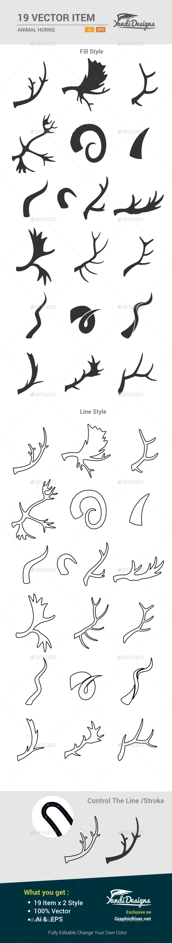Animal Horns - Animals Characters
