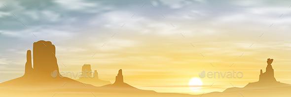 A Desert Landscape - Landscapes Nature