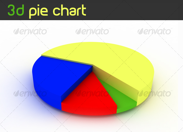 3D Rendered Pie Chart - Objects 3D Renders
