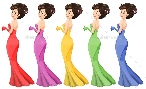 Lady in a Gown  - People Characters