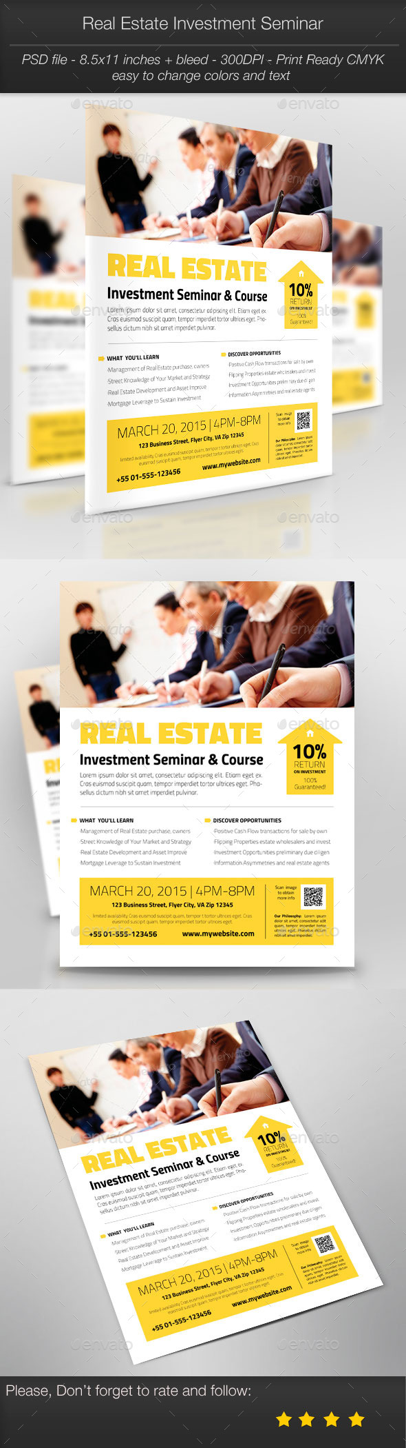 Business Promotion: Real Estate Investment Seminar - Corporate Flyers