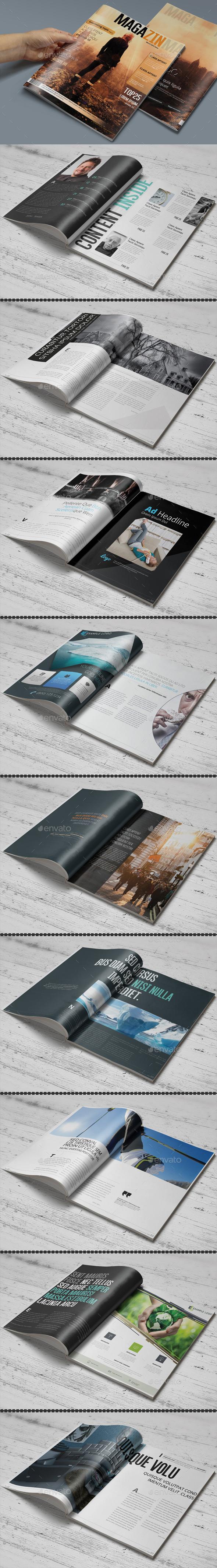 Photoshop Magazine Template - Magazines Print Templates
