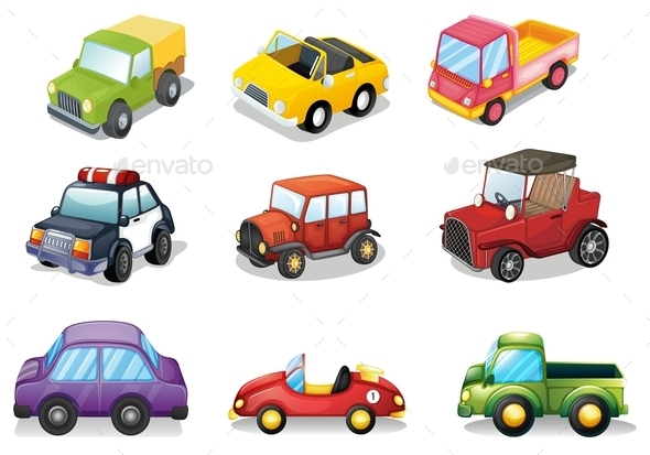 Car Toys - Objects Vectors