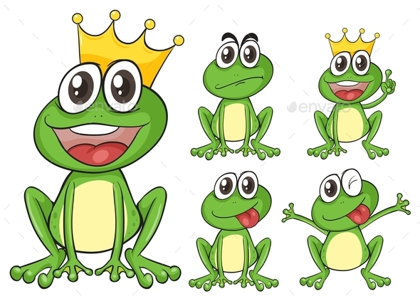 Green Frogs - Animals Characters
