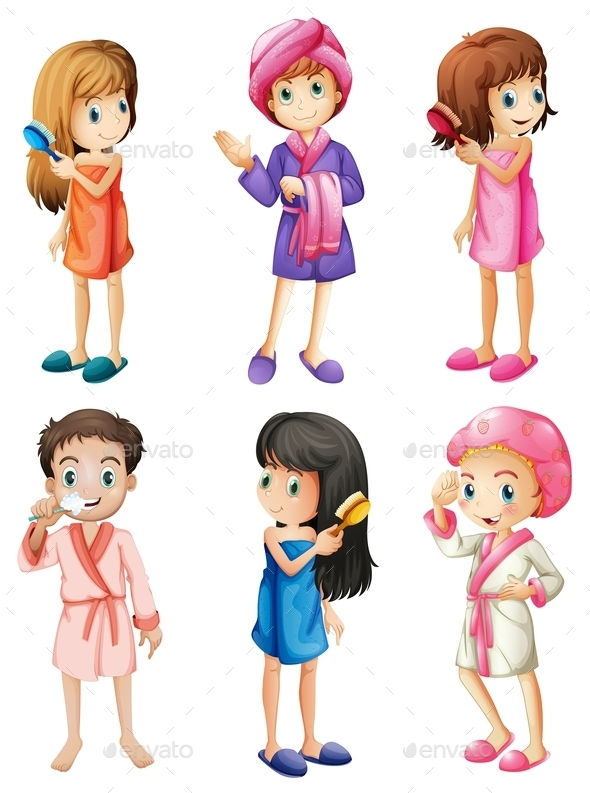 Kids Grooming - People Characters