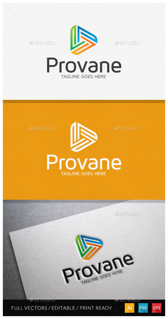 Provane Media Logo Template - Letters Logo Templates