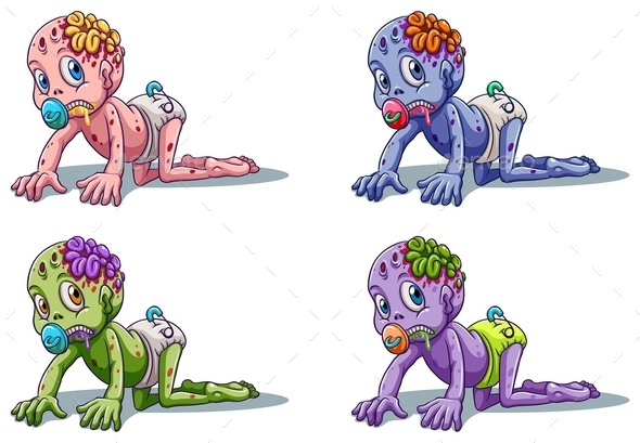 Zombie Infants - Monsters Characters