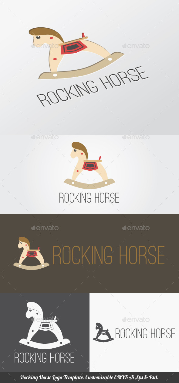 Rocking Horse Logo Template By Ijajil Graphicriver
