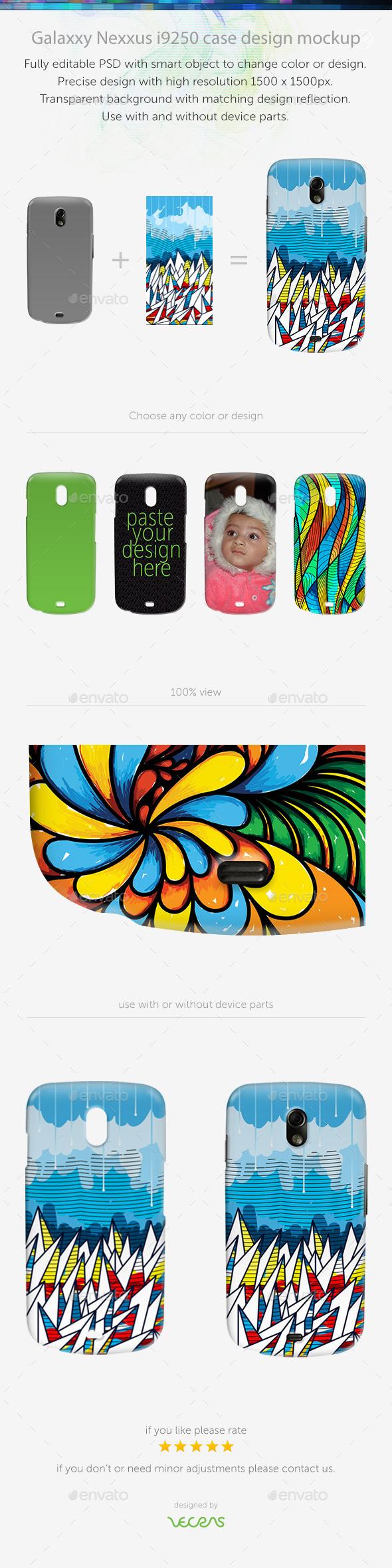 Galaxxy Nexxus Case Design Mockup - Mobile Displays