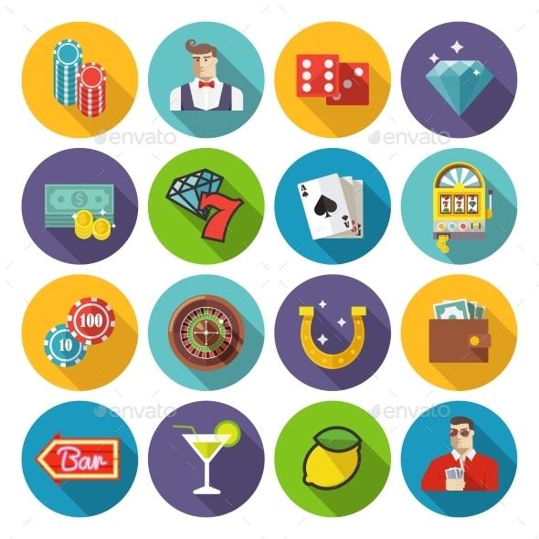 Casino Icons - Web Technology