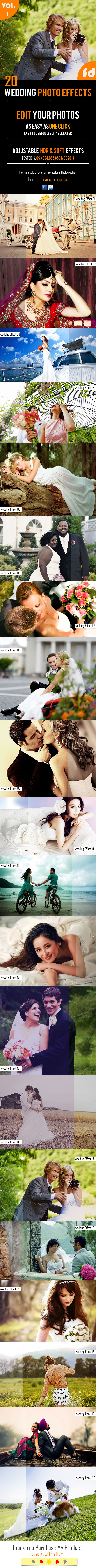 20 Wedding Photo Effects - Photo Effects Actions