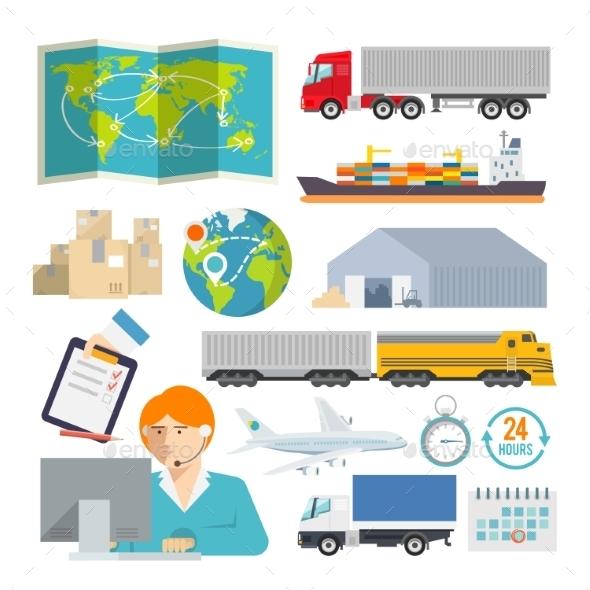 Logistics Icons - Travel Conceptual