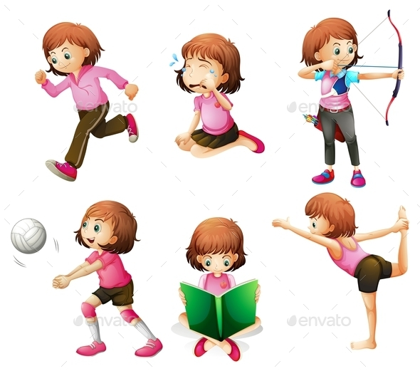 Activities of a Girl  - People Characters