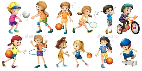 Sports - People Characters