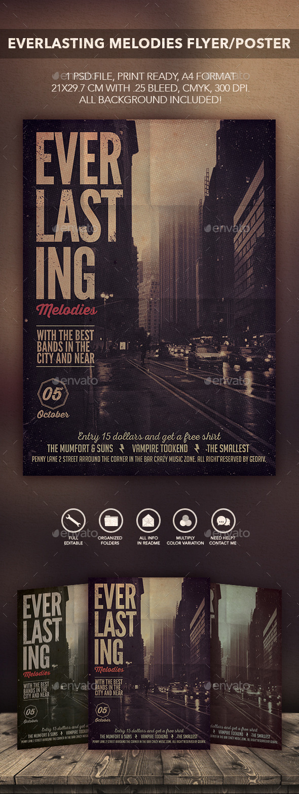 Everlasting Songs Flyer Poster - Flyers Print Templates