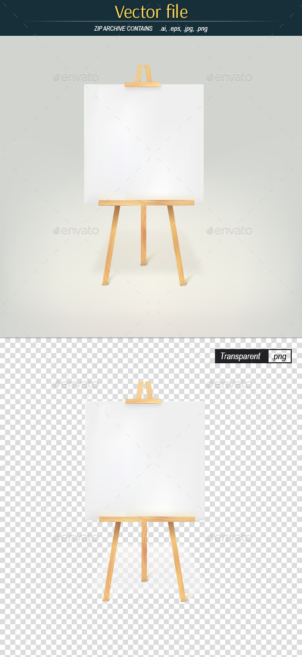 Wood Tripod with Blank Page - Man-made Objects Objects