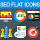 SEO Flat Icons - GraphicRiver Item for Sale