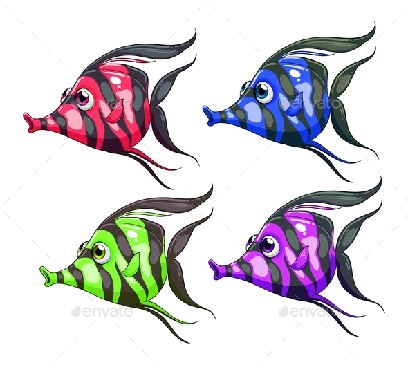 Colorful Fish  - Animals Characters