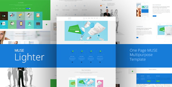 Lighter - One Page MUSE Template - Corporate Muse Templates