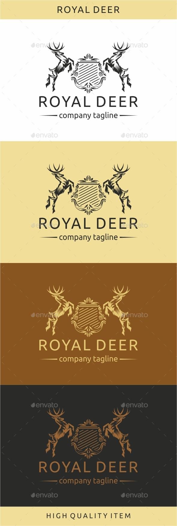Royal Deer - Crests Logo Templates