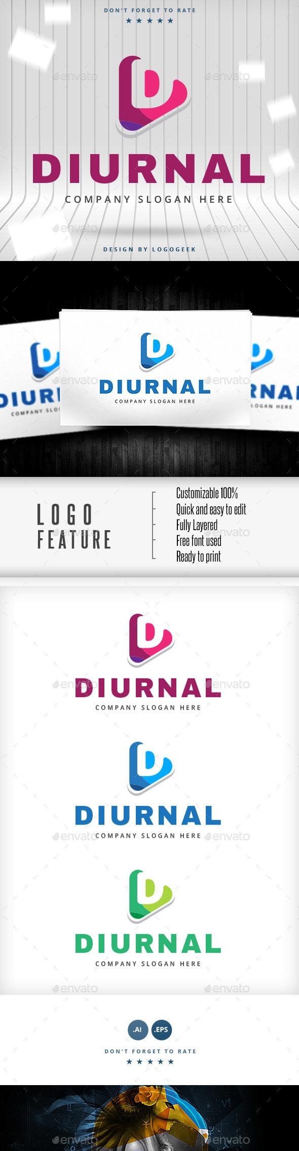 Diurnal Logo - Letters Logo Templates