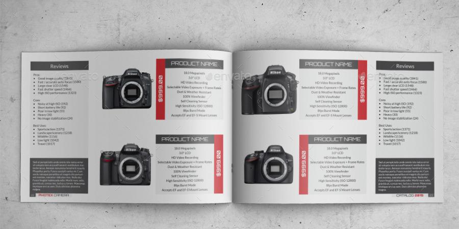 camera a4 indesign catalog template 0043 by annozio