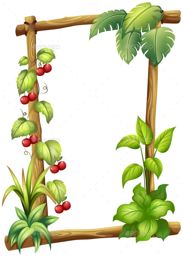 Wooden Frame with Leaves  - Flowers & Plants Nature