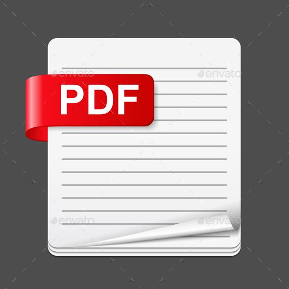 PDF File Icon - Miscellaneous Vectors