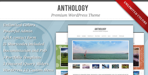Anthology - Elegant WordPress Theme - Portfolio Creative