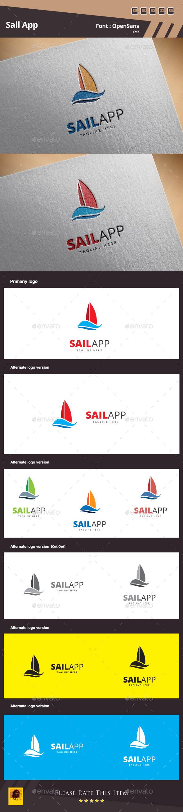 Sail App Logo Template - Symbols Logo Templates
