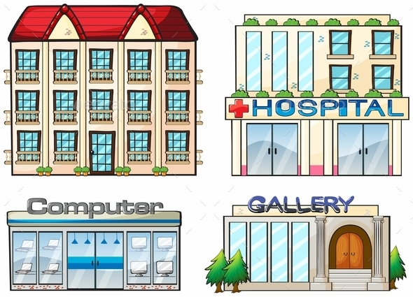 Shops Set - Buildings Objects