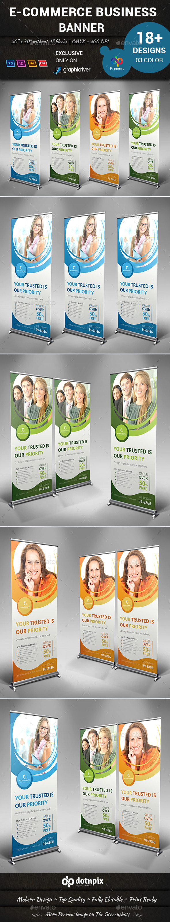 E-Commerce Business Banner - Signage Print Templates