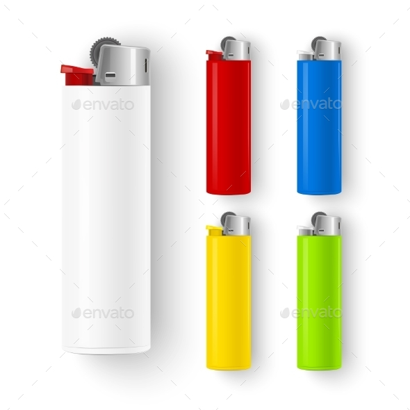 Set of Lighters  - Objects Vectors