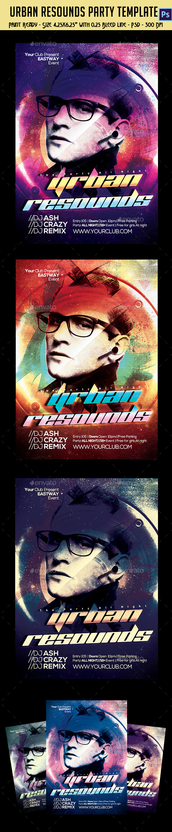 Urban resound Party Flyer - Clubs & Parties Events