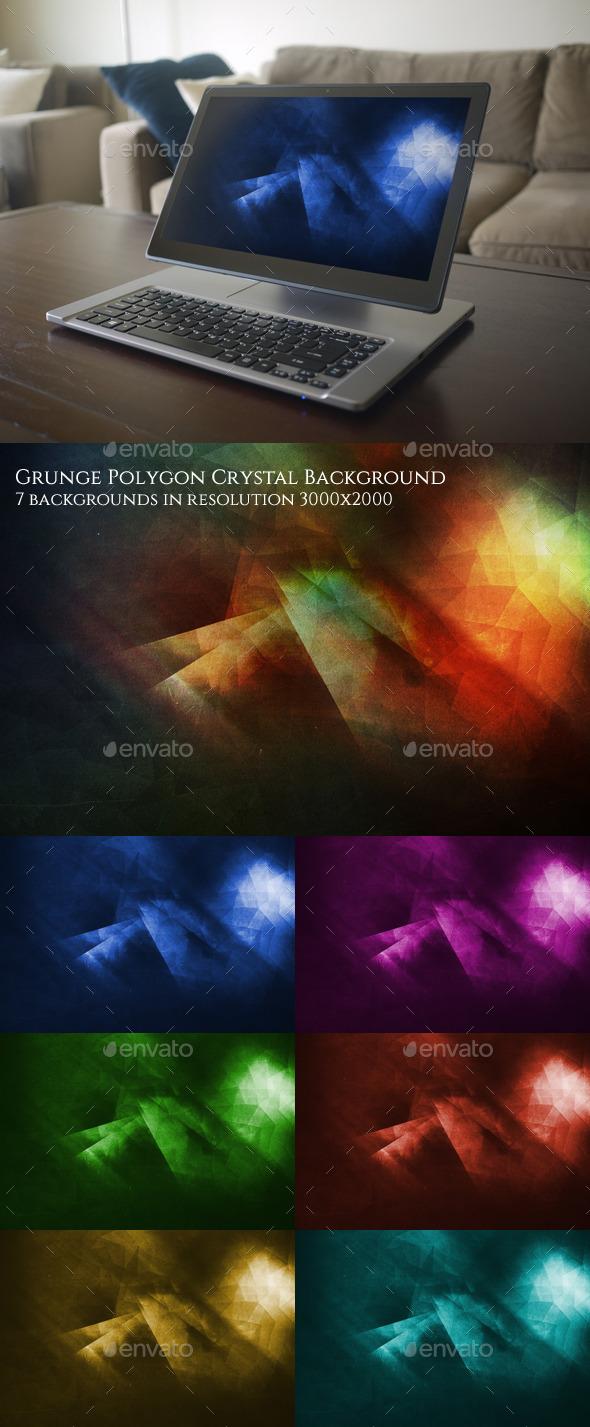Grunge Polygon Background