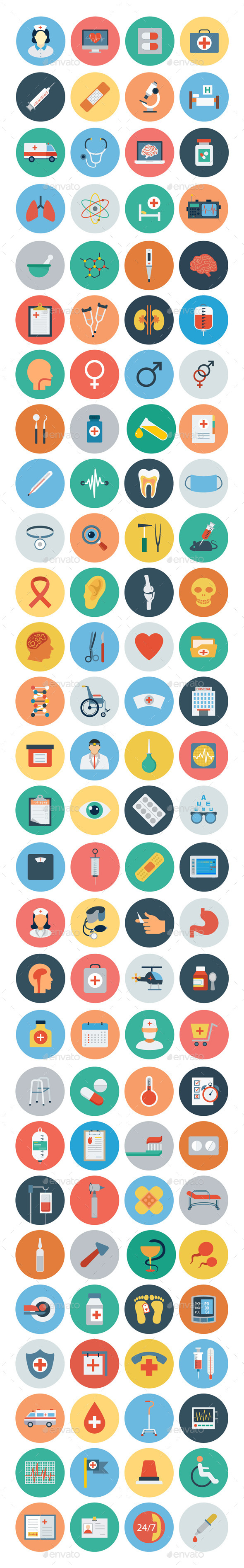 100+ Medical Flat Icons - Icons