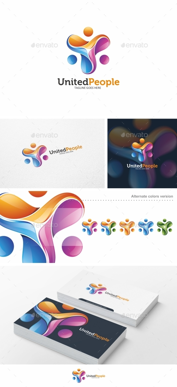 United People - Logo Template - Humans Logo Templates